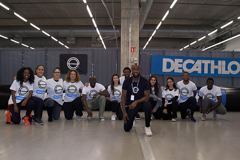 La team de l'asso au Décathlon de Saint Denis La Plaine